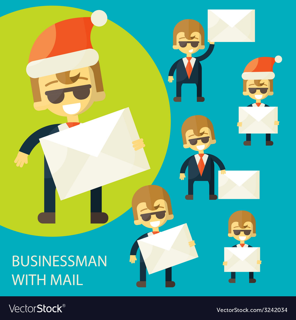 Successful businessman and a letter