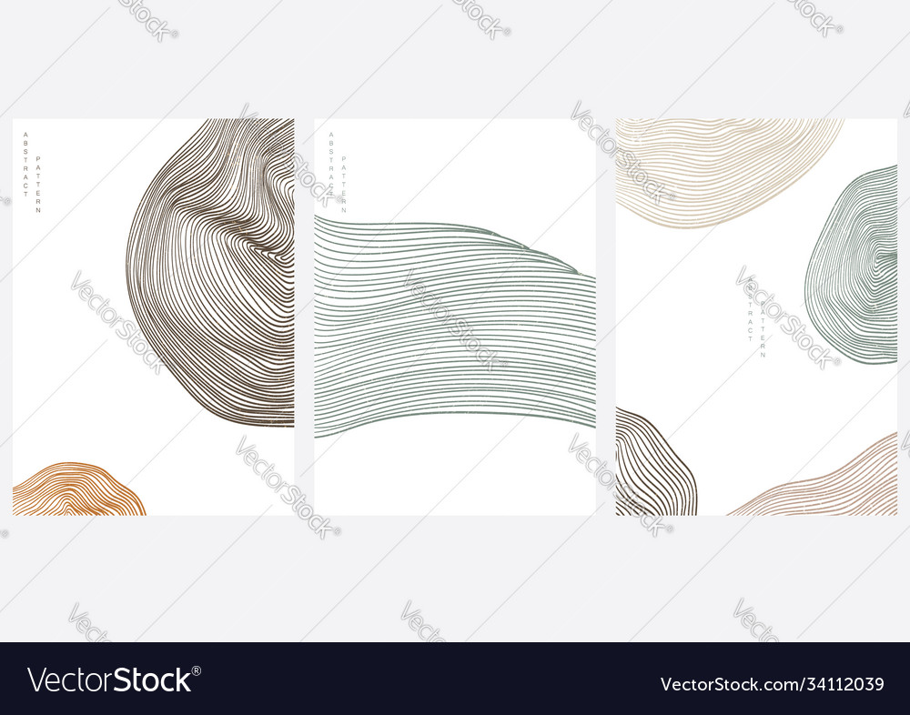 Abstract landscape background with line pattern