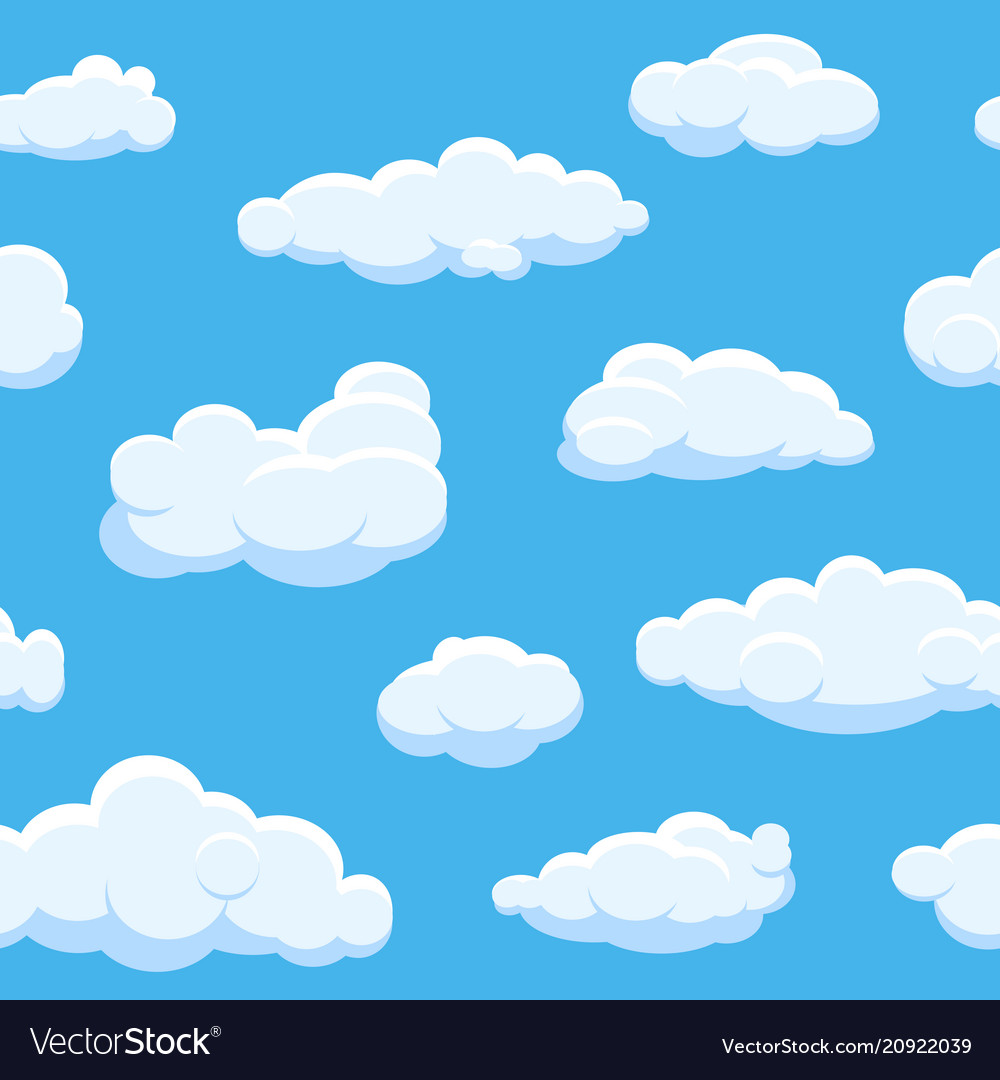 Cartoon clouds seamless background