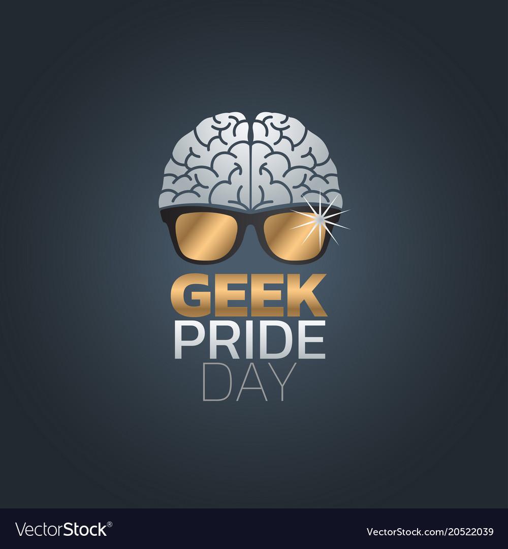 2f0787e04ca Geek pride day icon design Royalty Free Vector Image