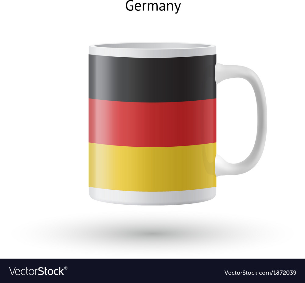 Germany flag souvenir mug on white background