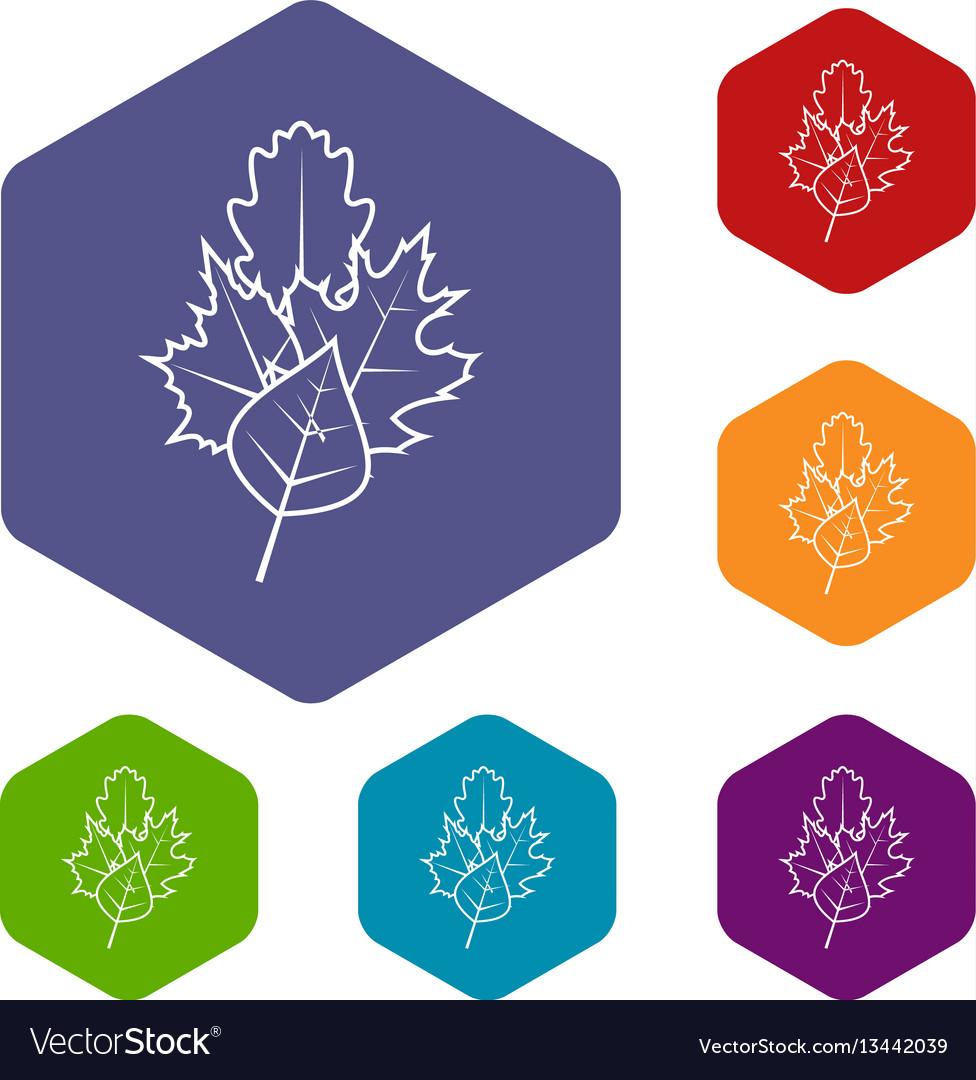 Leaves icons set