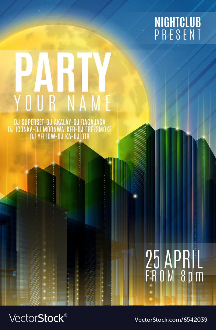 Night Party - Flyer or Cover Design Background