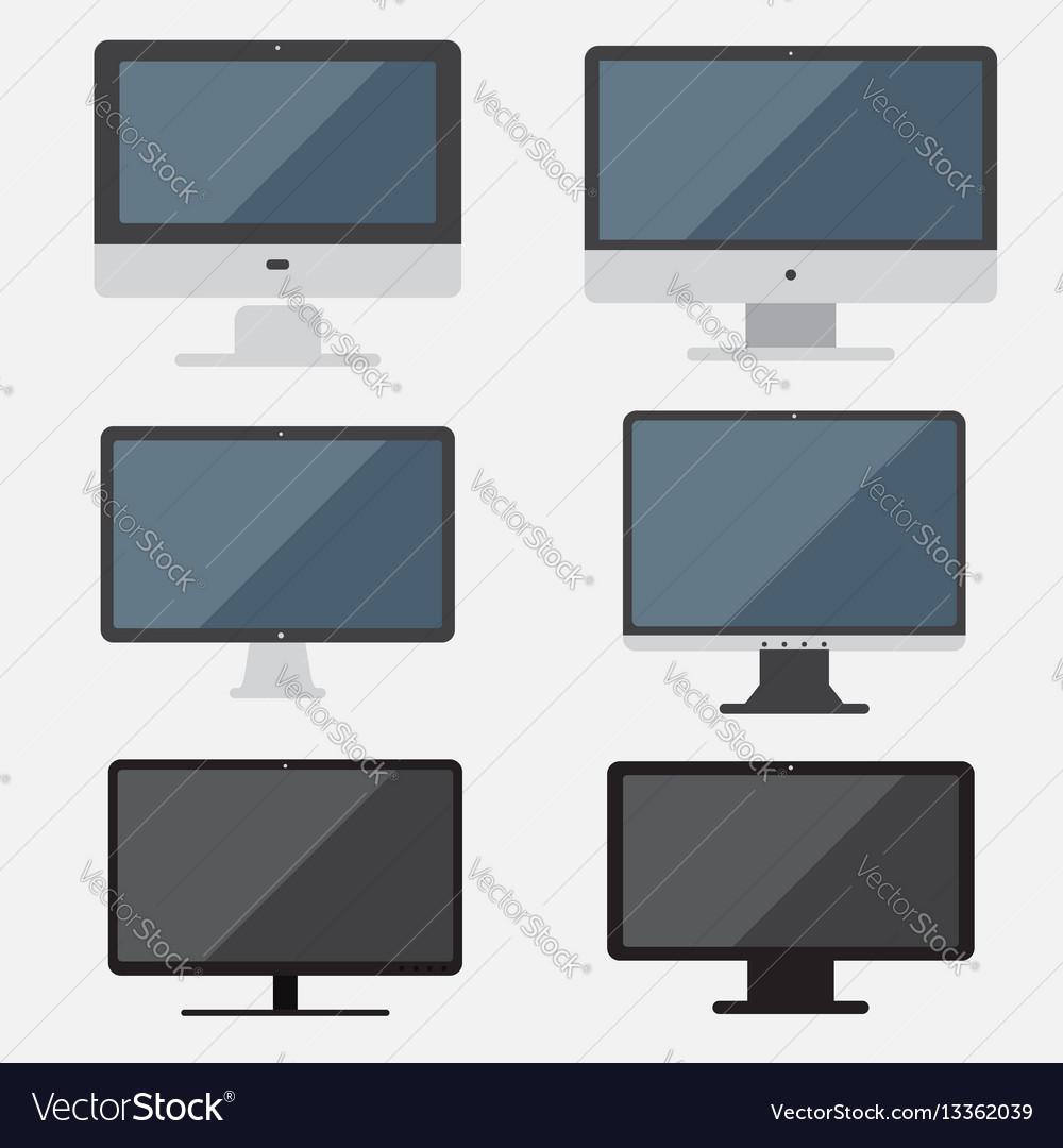 Set of computer computer flat design