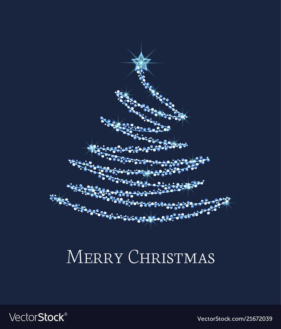 Silver Christmas Tree Royalty Free Vector Image
