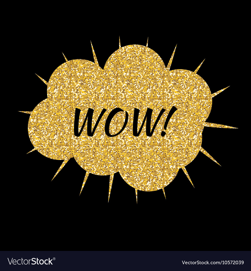 Speech Bubble Gold Glossy Background