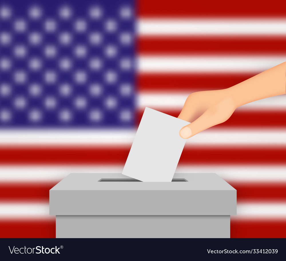 United states election banner background
