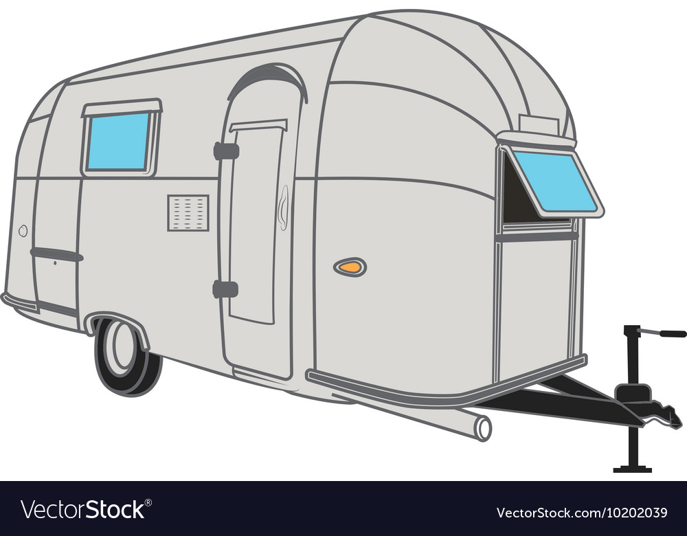 Vintage Airstream Style Camper Vector Image