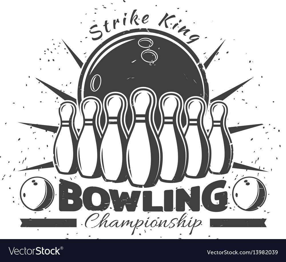 Vintage bowling club template