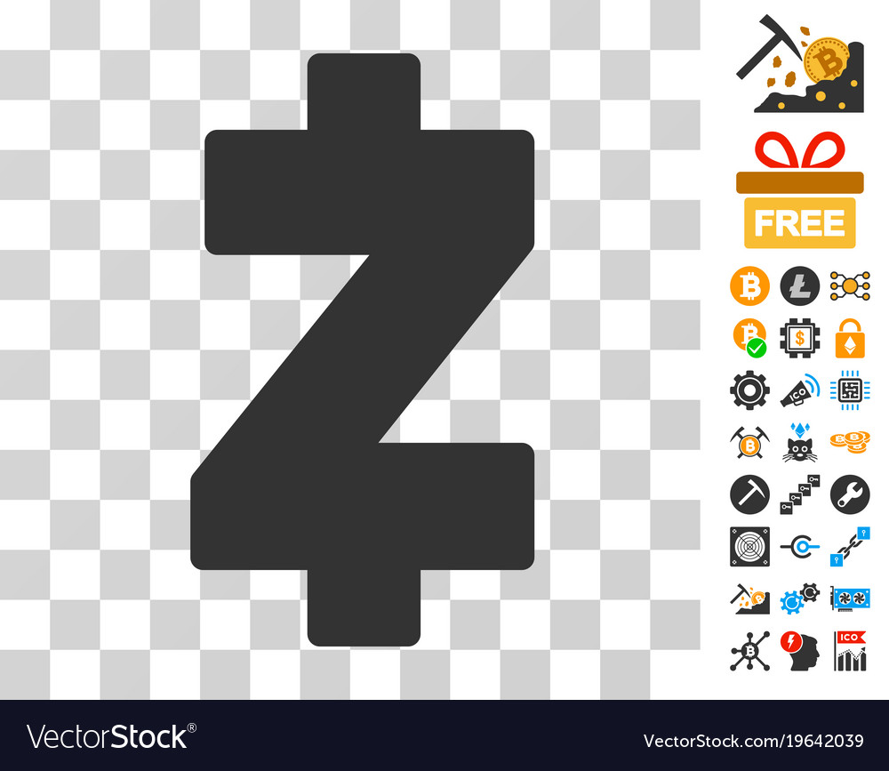 Zcash Icon With Bonus Vector Image