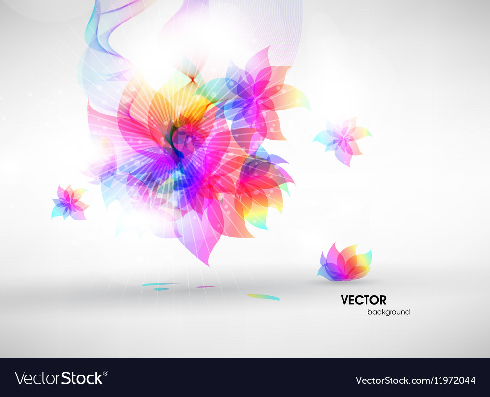 Abstract Fluorescent Floral Background
