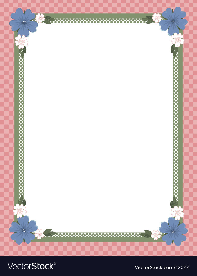 Baby border vector image