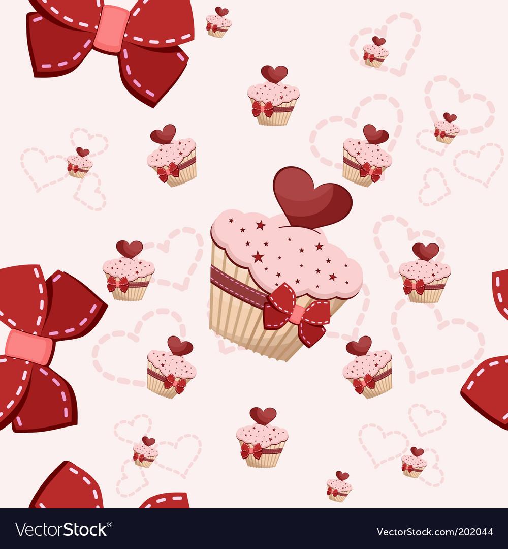 Birthday cake pattern vector image