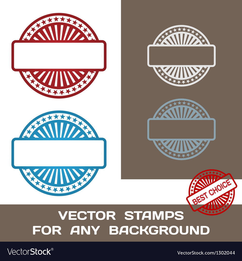 Blank rubber stamp set template for any background