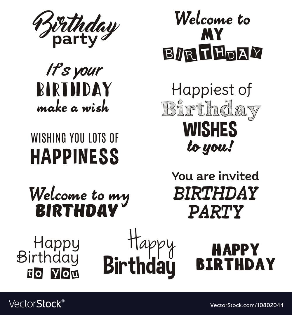 Happy birthday typography text isolated on white