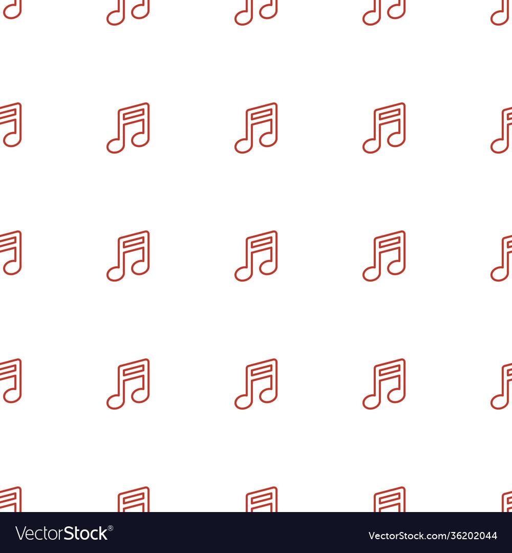 Note icon pattern seamless white background