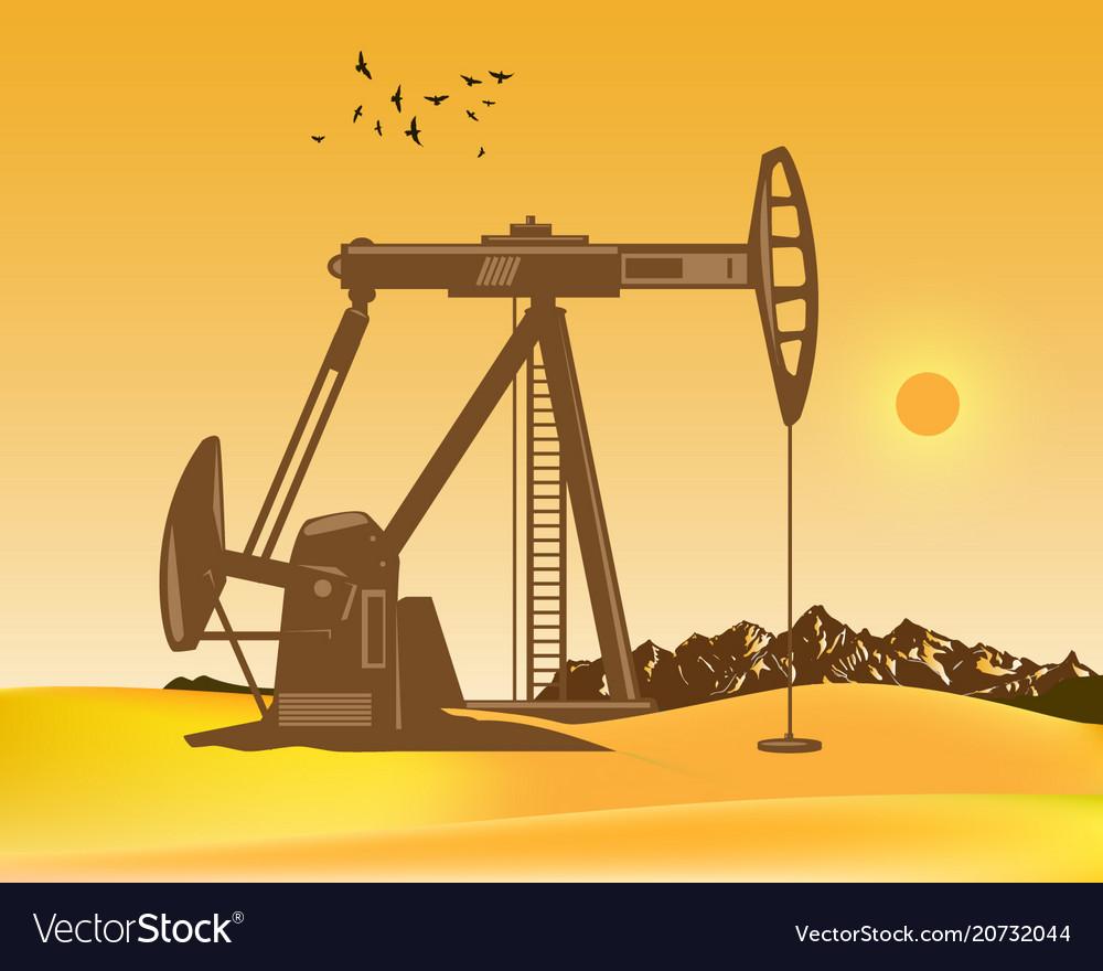 Oil pumps on the desert