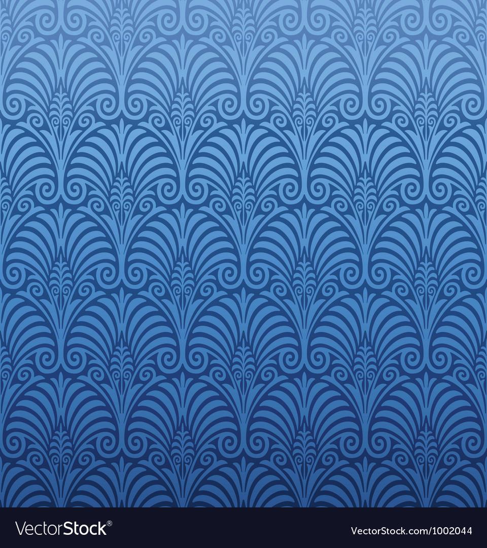 Seamless Art Nouveau Pattern Vector Image