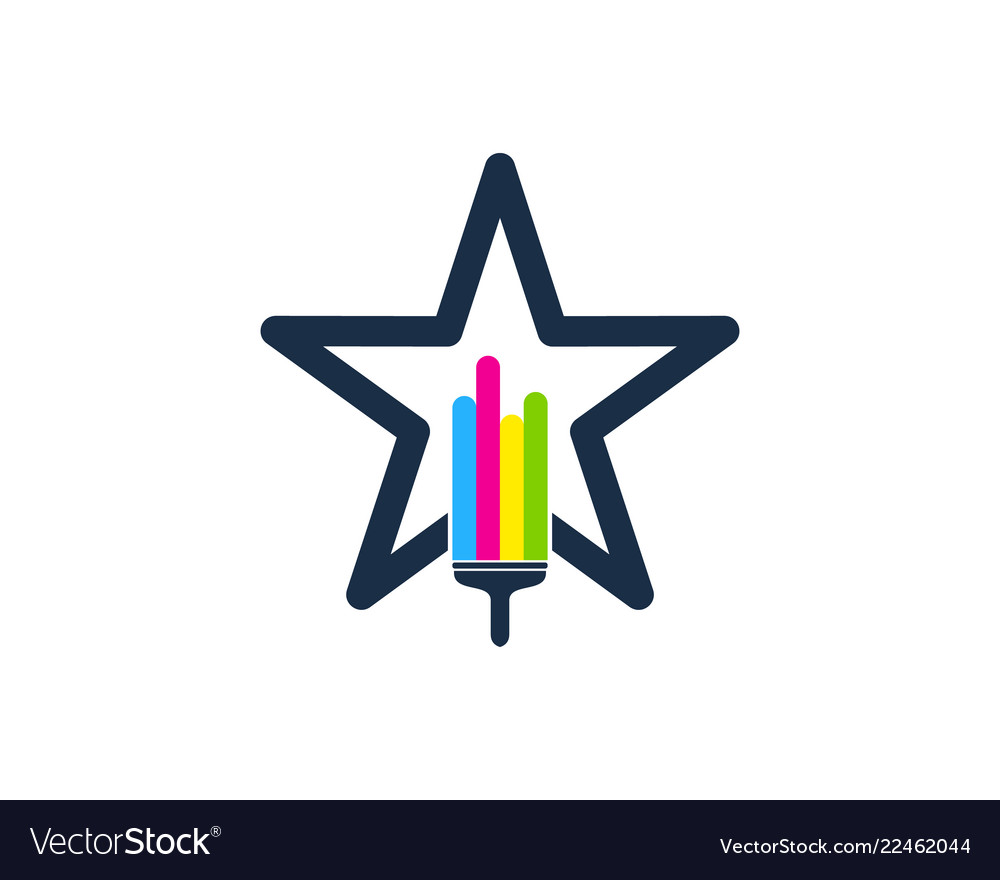 Star paint logo icon design