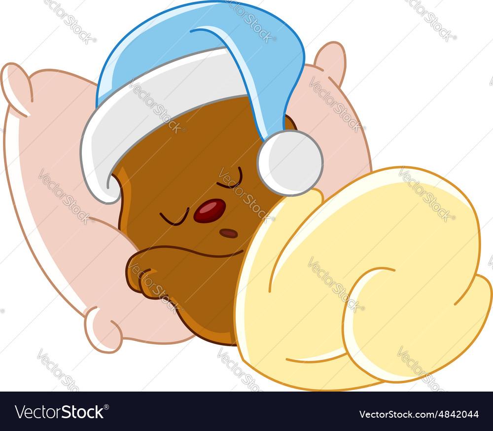 teddy bear sleeping royalty free vector image vectorstock