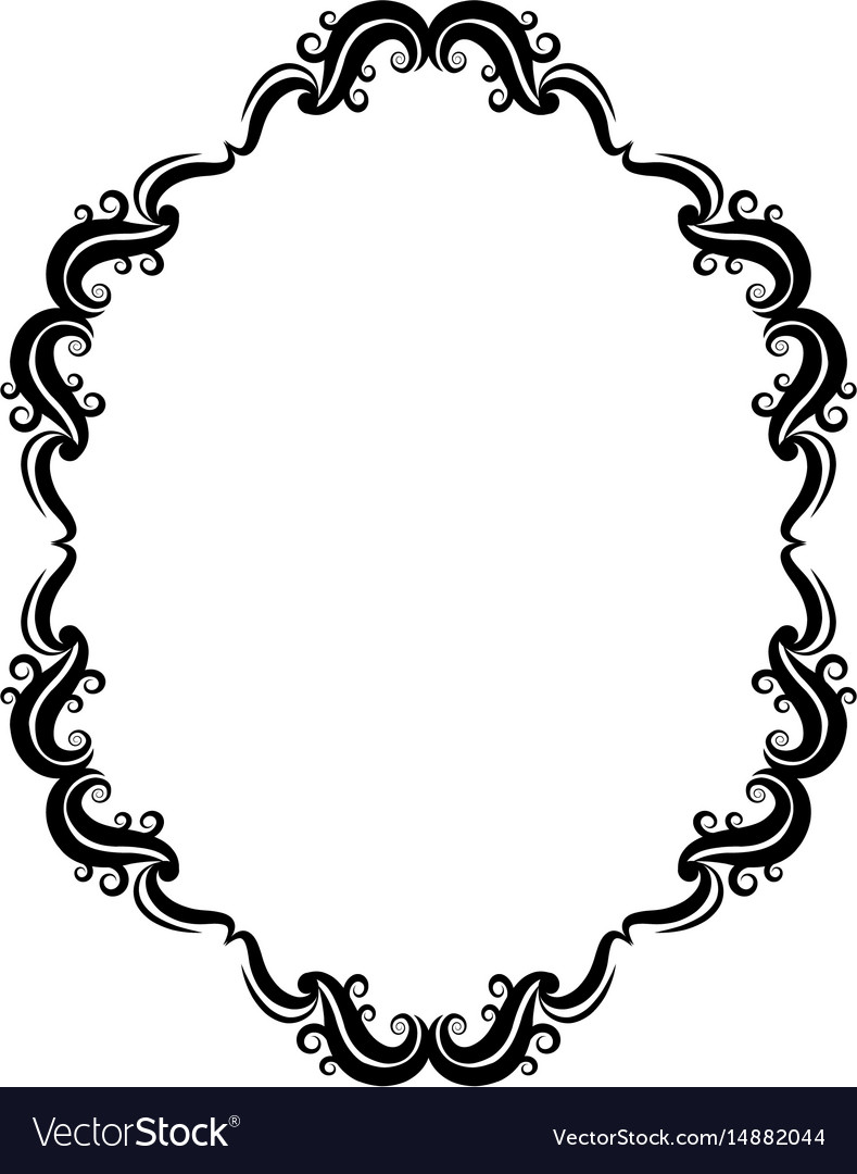 Border frame victorian Colored Vectorstock Vintage Border Frame Classic Victorian Decoration Vector Image