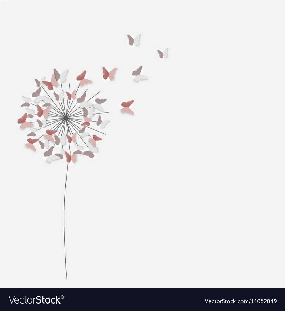 Abstract Paper Cut Out Butterfly Flower Background