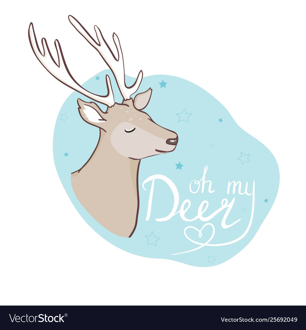 Cute deer with little bird for kids fashion