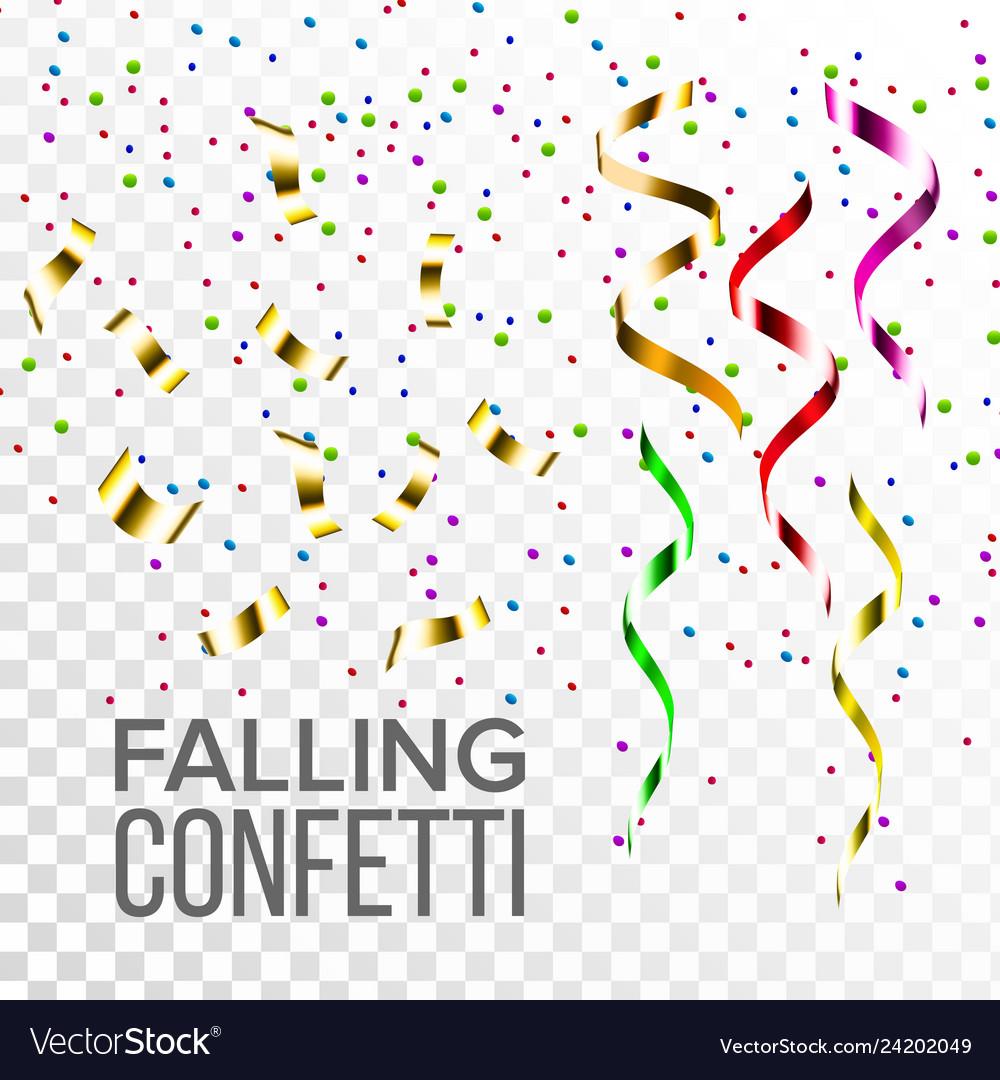 Falling confetti set event elements