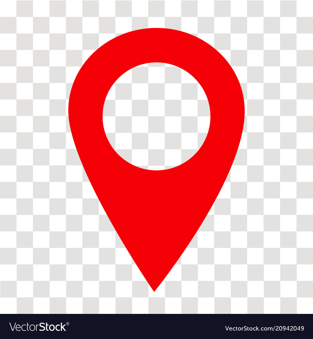 location pin icon on transparent location pin vector image