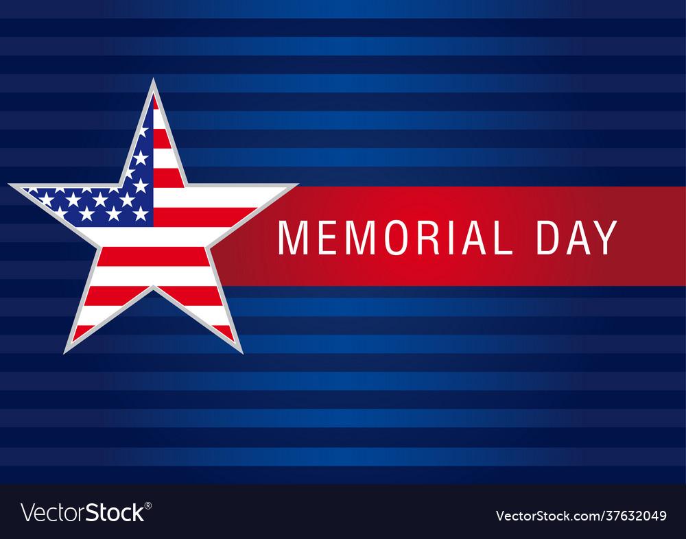 Memorial day usa banner