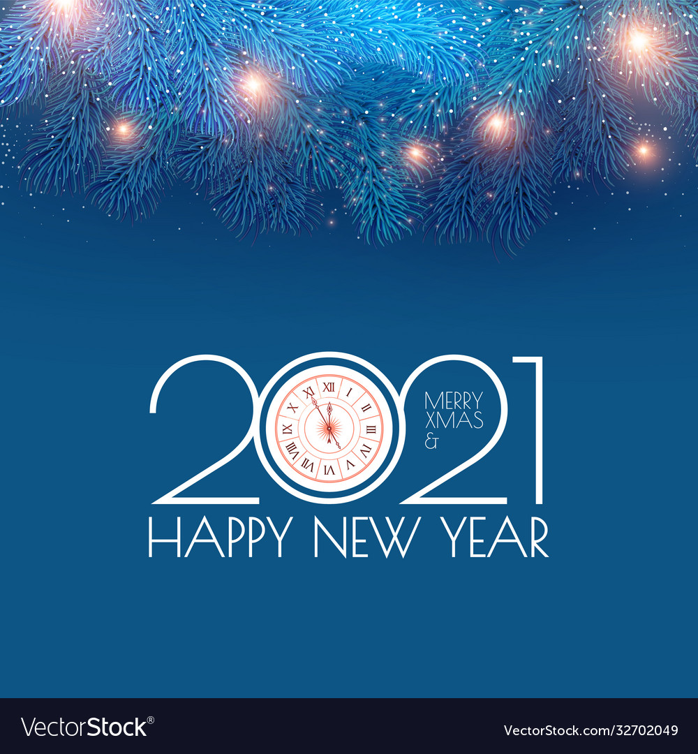 Christmas Holiday 2021 Merry Christmas And Happy New 2021 Year Holiday Vector Image