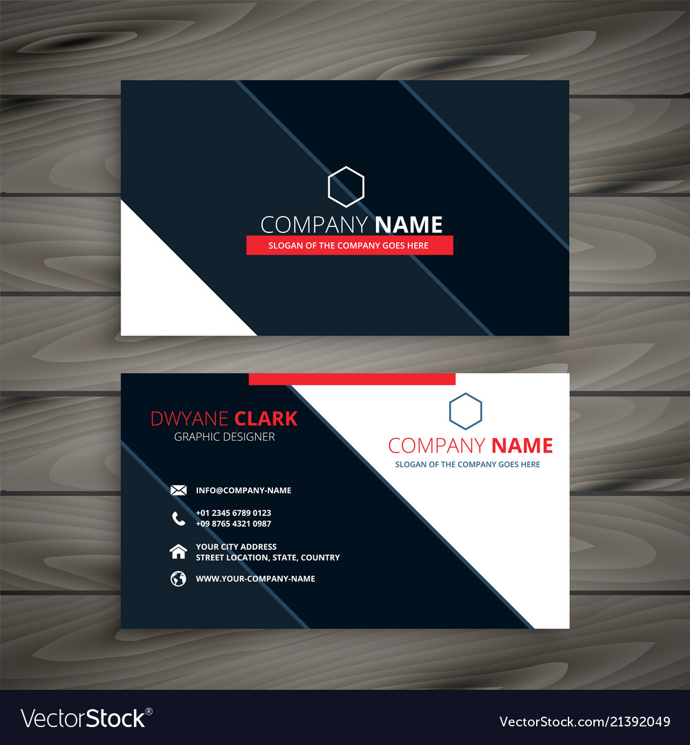 Modern business card design template royalty free vector modern business card design template vector image accmission Gallery