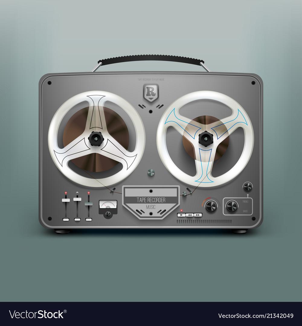 Stock realistic tape recorder