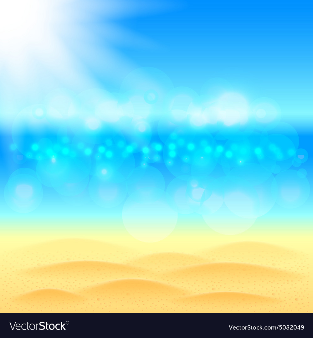 Summer background with beach sea and sky