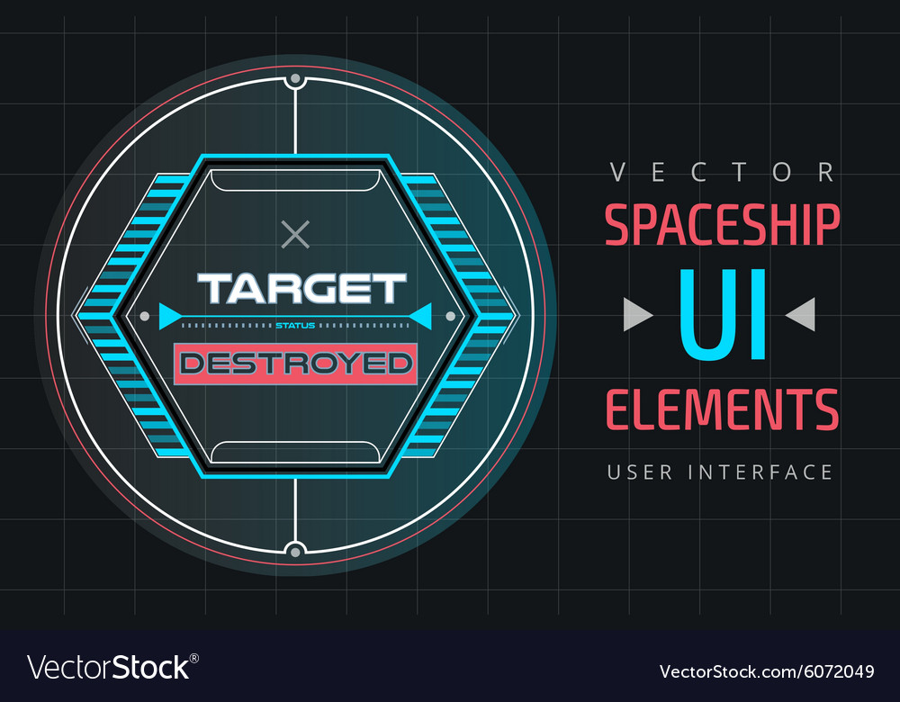 UI infographic interface web elements