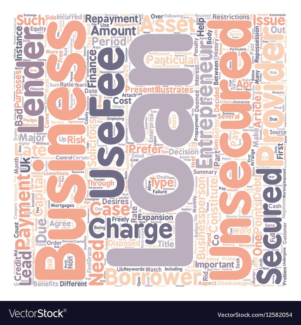 Benefits of Unsecured business loans text