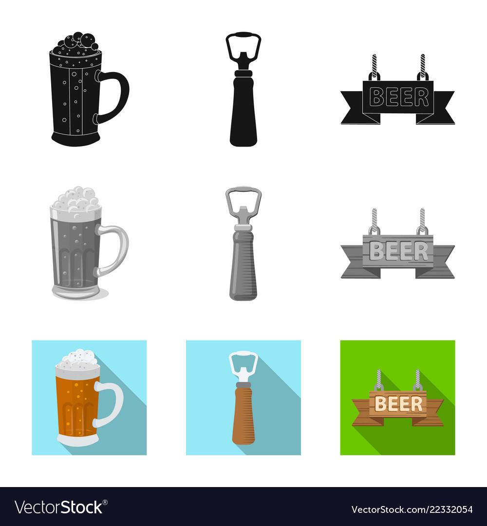 Design of pub and bar logo set of pub and