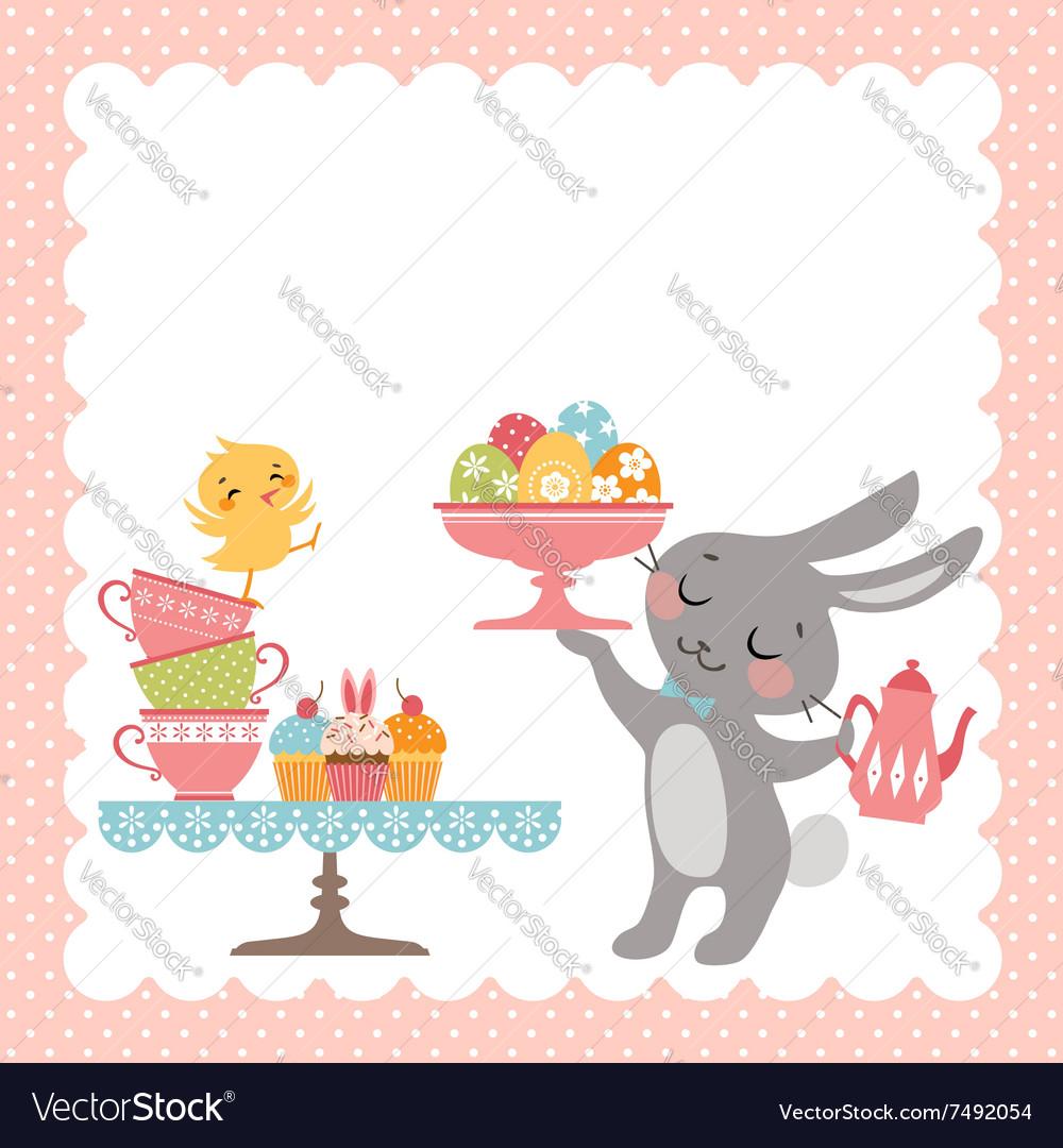 Easter rabbit tea party