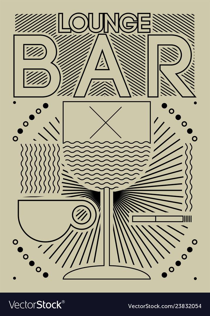 Lounge bar menu geometric pattern design