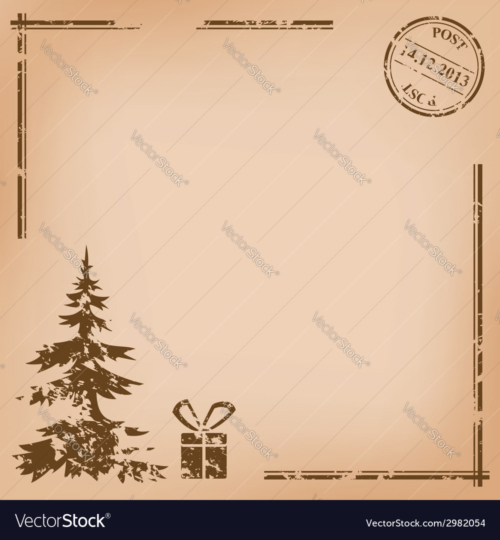 Old vintage postcard - for christmas