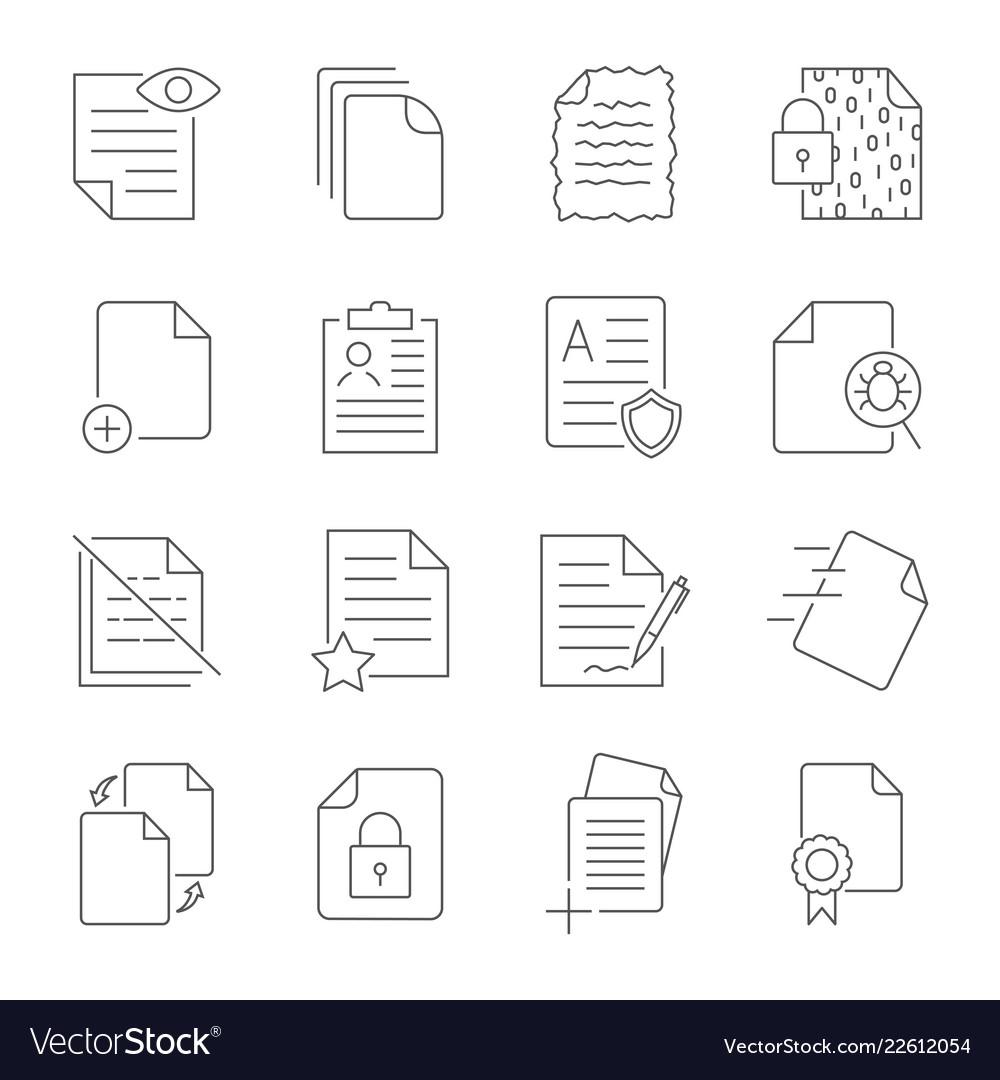 Paper icon document icon