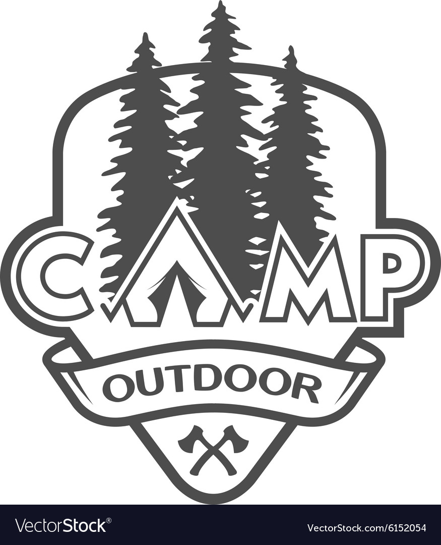 The camp outdoors hiking