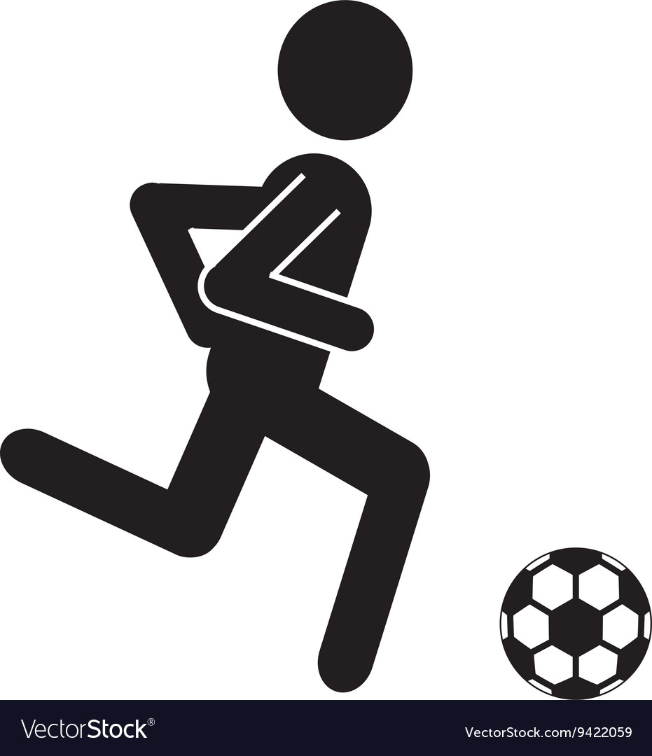 Black avatar man with soccer ball graphic