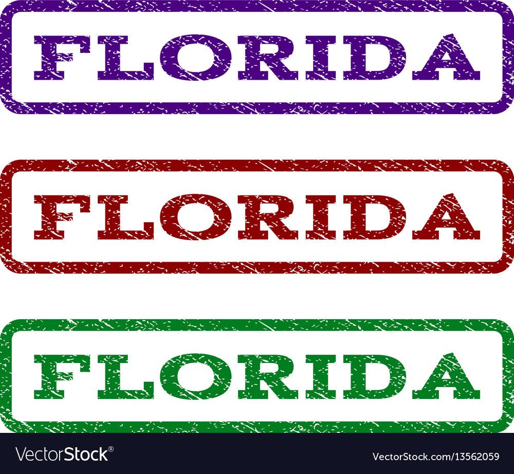 Florida watermark stamp vector image
