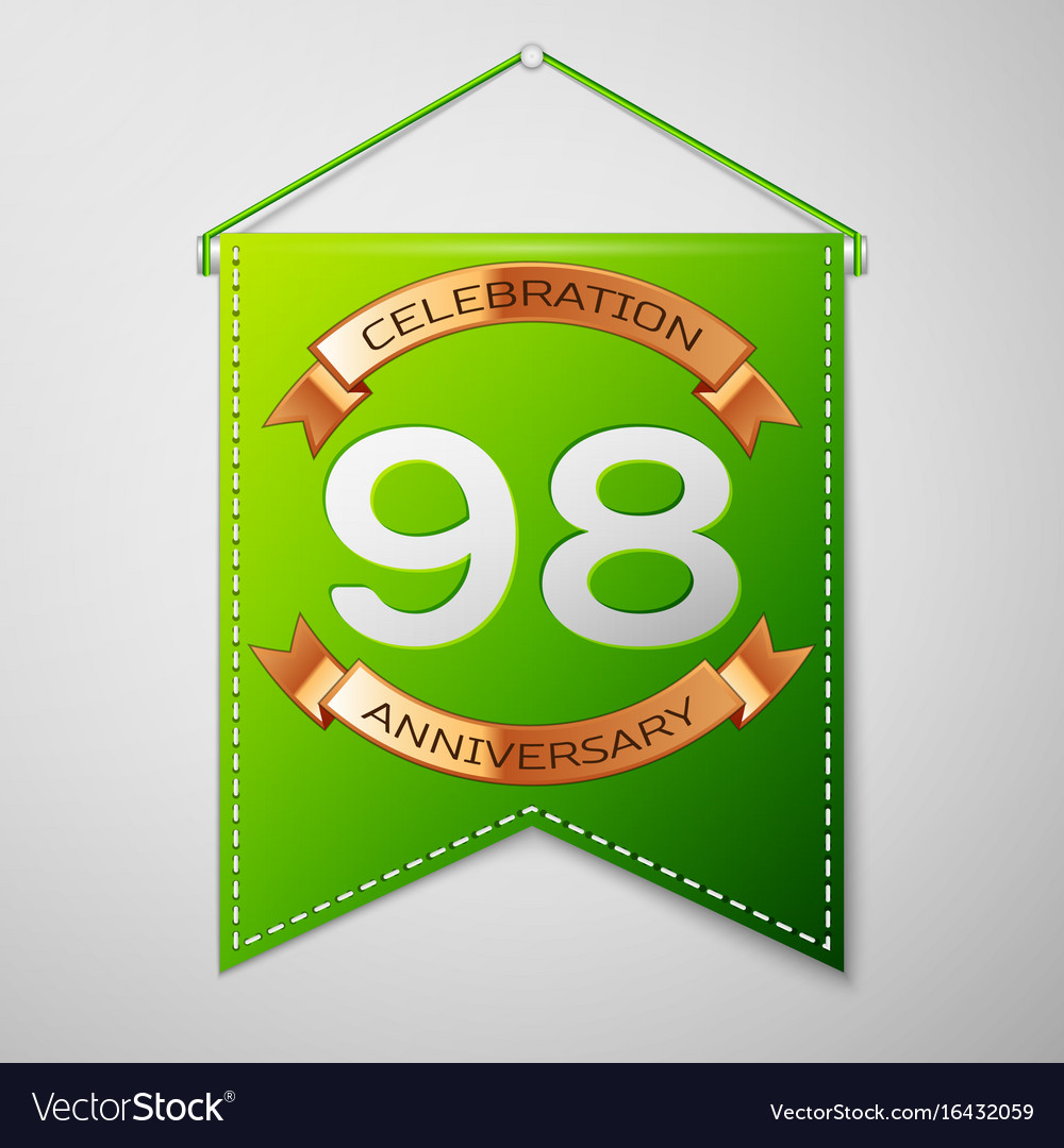 Ninety eight years anniversary celebration design