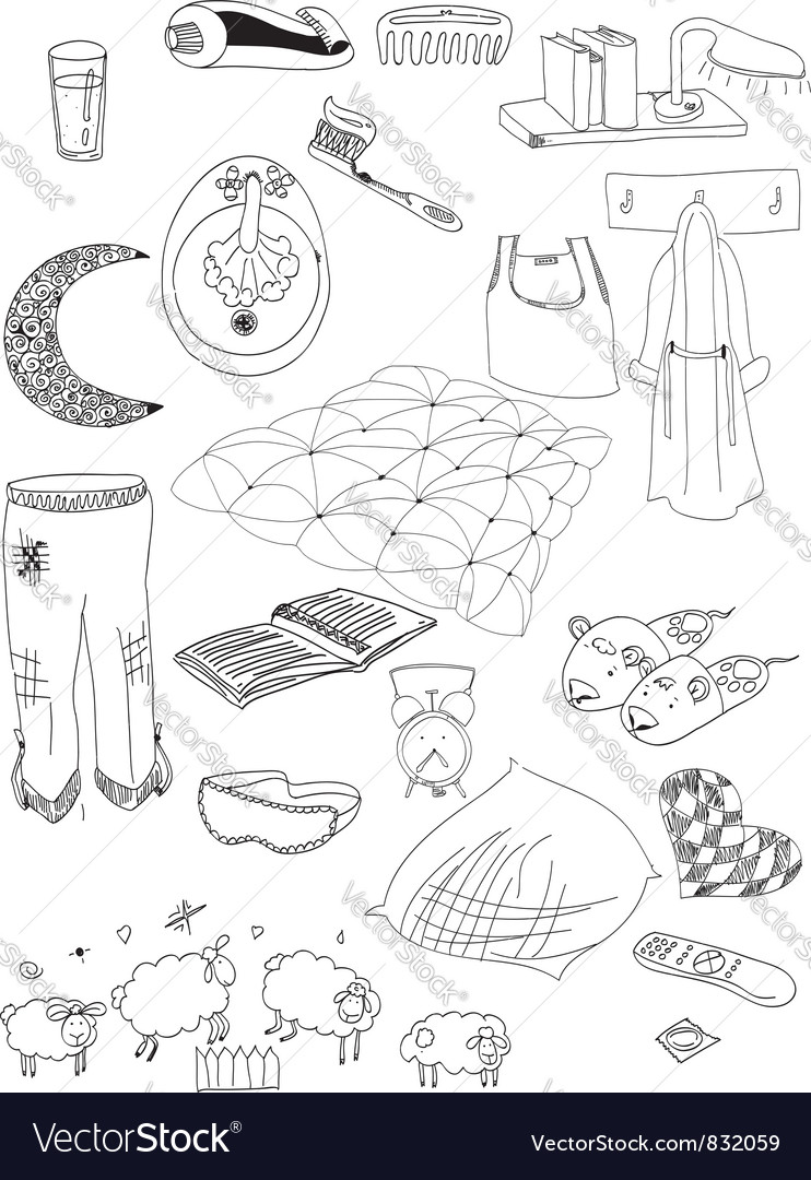 Objects on a dream vector