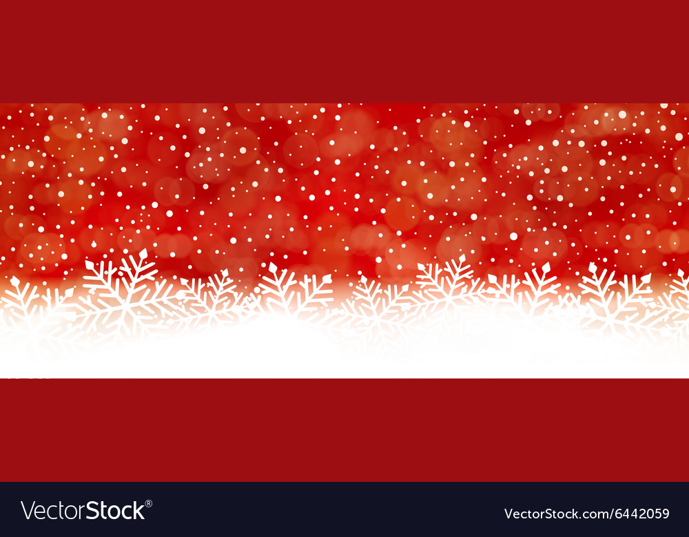 Red abstract snowflake background panorama