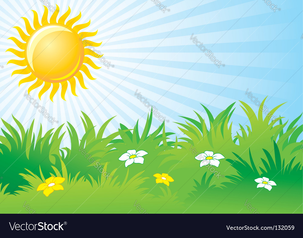 Sunny day background Royalty Free Vector Image
