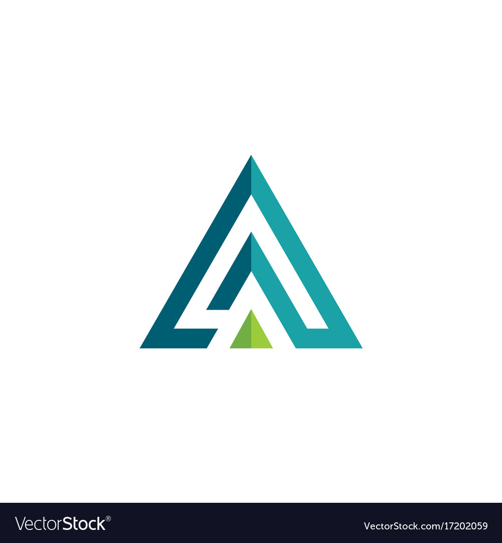 triangle 3d pyramid logo royalty free vector image