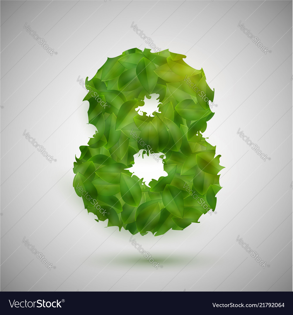 A number made by leaves